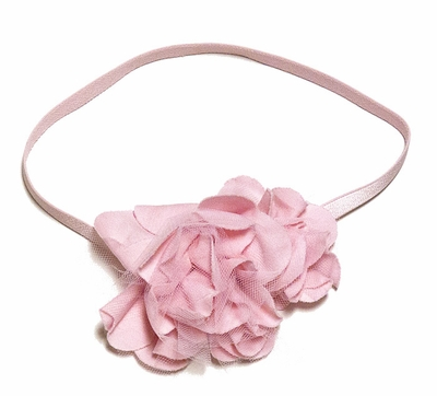 Lemon Loves Lime Layette Baby Girls Rose Headband - Pink