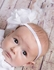Lemon Loves Lime Layette Baby Girls Rose Headband - White