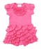 Lemon Loves Lime Layette Baby Girls Ruffled Angel Romper - Lemonade Pink