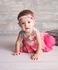 Lemon Loves Lime Baby Girls Sweet Garden Dress - Attached Bloomers - Pink