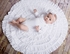 Lemon Loves Lime Layette Rose Wrap Circular Portrait Blanket - Ivory or White