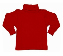 LeTop Boys / Girls Christmas RED Turtleneck Shirts