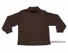 LeTop Boys / Girls Turtleneck Shirt - BROWN