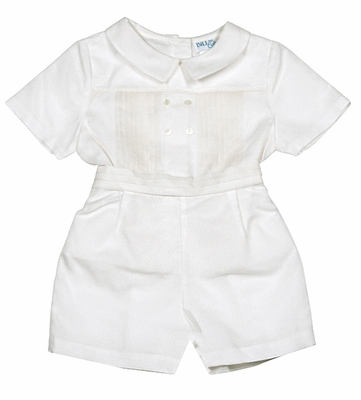 Luli & Me Baby / Toddler Boys Ivory Silk Organza Dressy Outfit