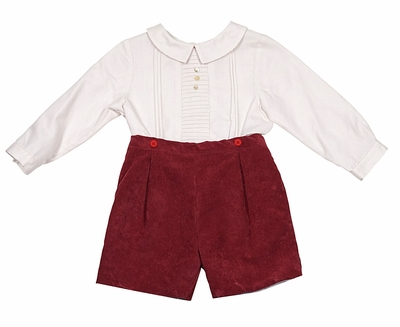 d19b3ee72119 Luli   Me Baby   Toddler Boys Stripes   Corduroy Button On Outfit - Burgundy