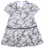 Luli & Me Baby / Toddler Girls Gray / Ivory Roses Knit Drop Waist Dress