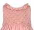 Luli & Me Baby / Toddler Girls Sleeveless Coral Organdy Smocked Bodice Dress - Ruffle Neck & Hem
