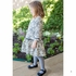 Luli & Me Girls Grey / Ivory Rose Knit Drop Waist Dress