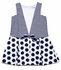 Luli & Me Girls Navy Blue Stripes & Dots Dress with Bow