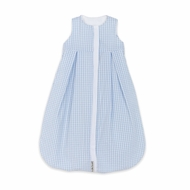Lulla Smith Wearable Baby Blanket Sleep Sack - Blue Check Seersucker