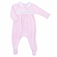 Magnolia Baby Aiden and Ava Smocked Footie - Pink