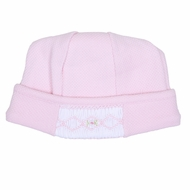 Magnolia Baby Aiden and Ava Smocked Hat - Pink