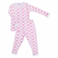 Magnolia Baby All My Hearts Long Pajamas - Pink
