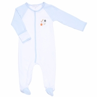 Magnolia Baby Boys All Star Baby Sports Embroidered Footie - Light Blue