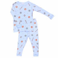 Magnolia Baby All Star Boys Sports Long Pajamas - Light Blue