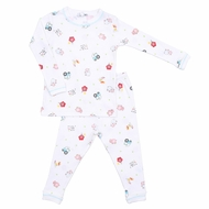 Magnolia Baby Boys Down at the Farm Print Long Pajamas