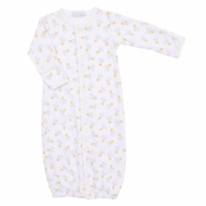Magnolia Baby Boys or Girls Yellow Vintage Honey Bee Printed Converter Gown