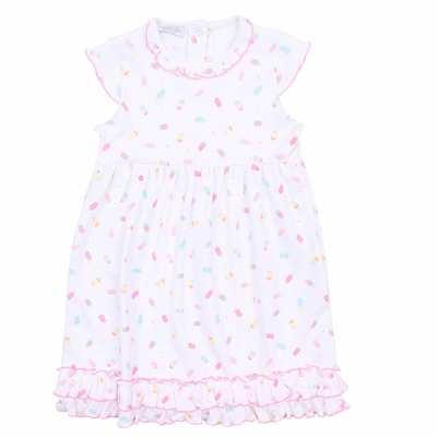 Magnolia Baby Little Girls Pink Cool Treats Printed Dress