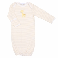 Magnolia Baby Darling Giraffe Applique Converter Gown - Yellow