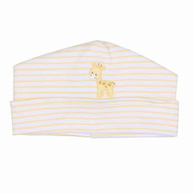 Magnolia Baby Darling Giraffe Applique Hat  - Yellow