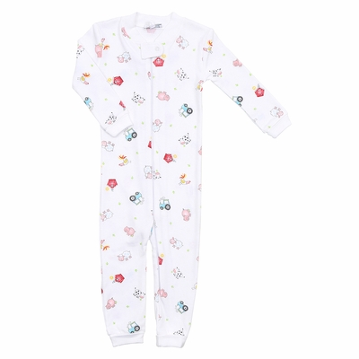 Magnolia Baby / Toddler Boys Down at the Farm Zipped Pajamas