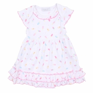 Magnolia Baby Girls Pink Cool Treats Printed Dress Set