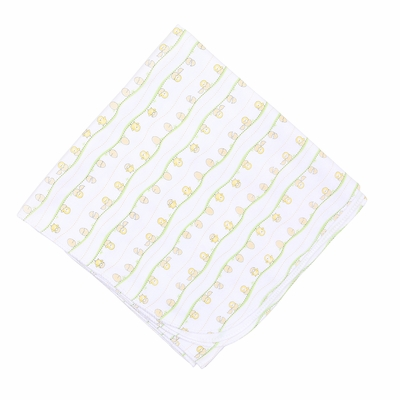 Magnolia Baby Yellow Chick Hatchlings Printed Swaddle Blanket