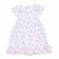 Magnolia Baby Girls Pink Hope's Rose Spring Floral Printed Dress
