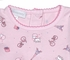 Magnolia Baby Infant Girls Pink Paris Tres Belle Dress with Diaper Cover