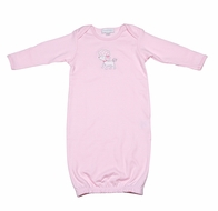 Magnolia Baby Infant Girls Tres Belle Pink French Poodle Gown