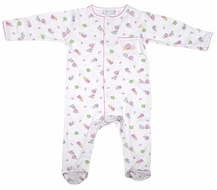 Magnolia Baby Infant Girls Pink Princess Print Footie