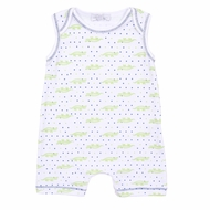 Magnolia Baby Boys Blue Later Gator Printed Sleeveless Playsuit Romper