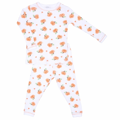 Magnolia Baby Boys Or Girls Orange Lil Pumpkin Long Pajamas