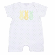 Magnolia Baby Boys Little Peeps Applique Easter Bunny Playsuit - Green
