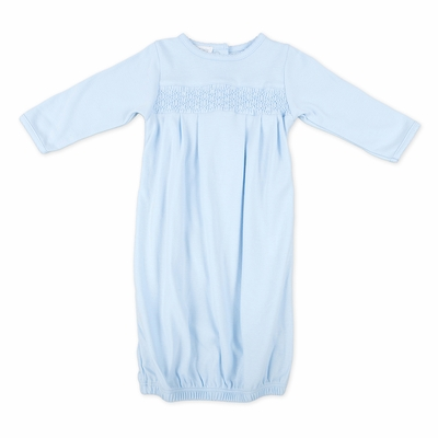 Magnolia Baby Essentials Infant Boys Smocked Gown - Blue