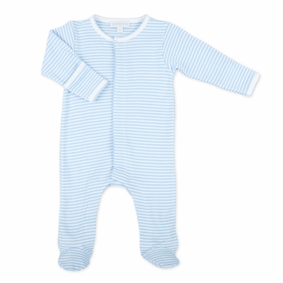 Magnolia Baby Essentials Infant Boys Striped Footie - Blue