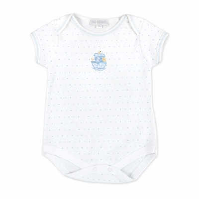 Magnolia Baby Boys Noah's Friends Embroidered Bodysuit - Blue