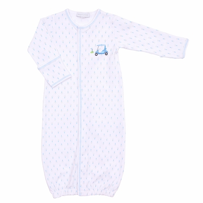 Magnolia Baby Boys Tee Time Golf Cart Converter Gown - Blue