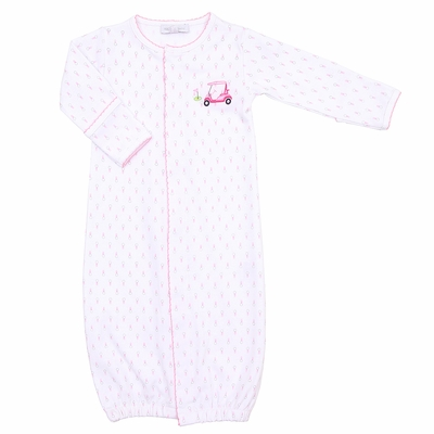 Magnolia Baby Girls Pink Tee Time Golf Cart Converter Gown