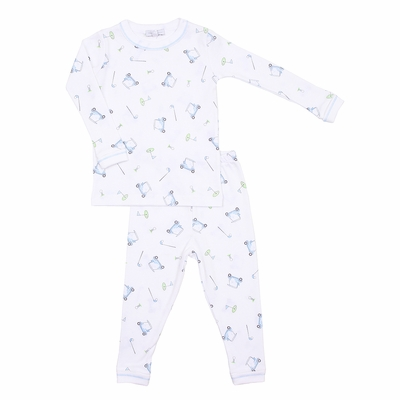 Magnolia Baby Little Boys Golf Tee Time Long Pajamas - Blue