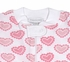 Magnolia Baby / Toddler Girls All My Hearts Zip Front Pajamas - Pink