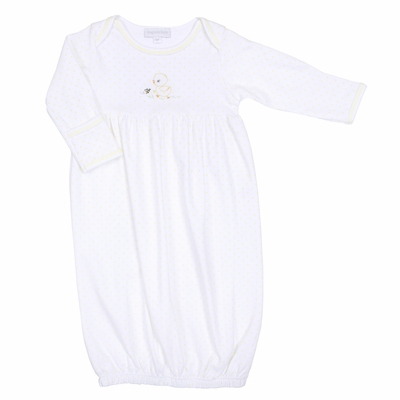 Magnolia Baby Boys / Girls Vintage Duckie Gathered Gown  - Yellow
