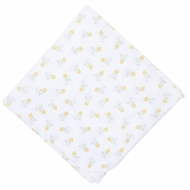 Magnolia Baby Boys or Girls Yellow Vintage Honey Bee Printed Swaddle Blanket