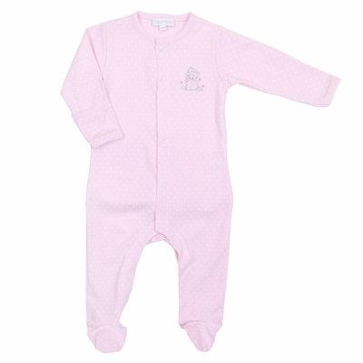 Magnolia Baby Vintage Kitty Footie - Pink