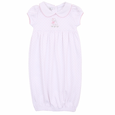 Magnolia Baby Girls Pink Vintage Lamb Collared Gown