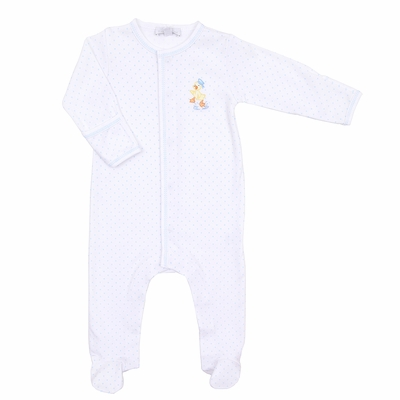 Magnolia Baby Duck Vintage Puddleduck Embroidered Footie
