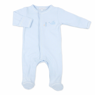 Magnolia Baby Boys Worth the Wait Stork Footie - Blue