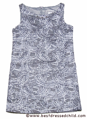 Maria Casero by Luli & Me Girls Ice Blue / Silver Lace Dress with Gems