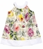 Max & Dora Girls Joelle Jewel Neck Dress - Pink Cabbage Roses