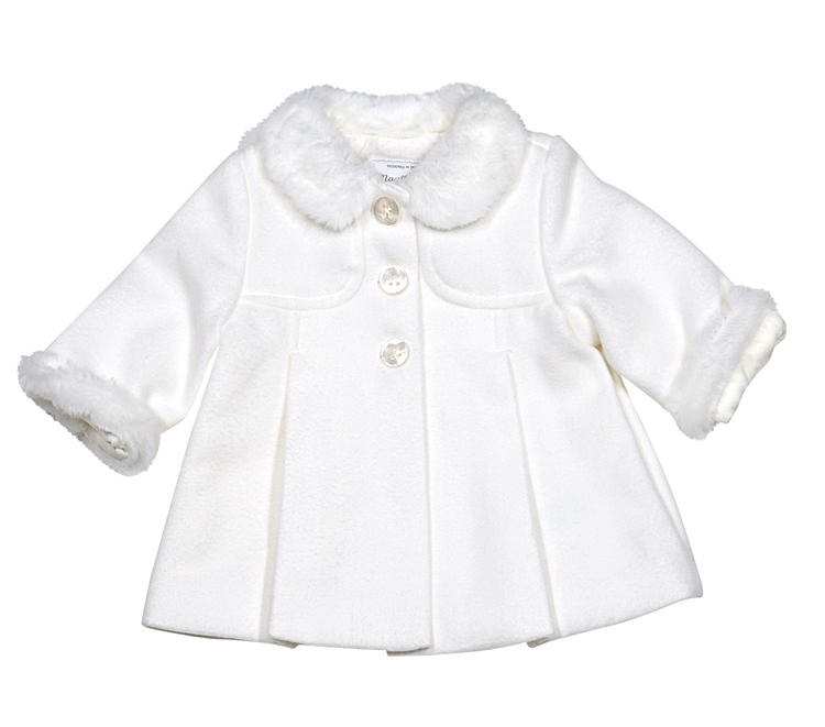 Mayoral Baby Girls Dress Coat - Natural Ivory